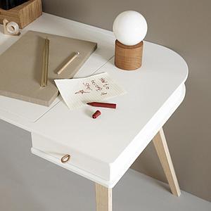 Kinderschreibtisch-Stuhl 72,6 cm WOOD Oliver Furniture weiß-Eiche