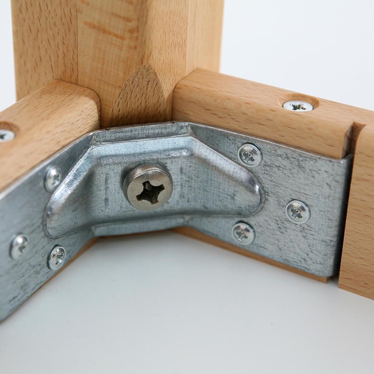 Kindertisch 60x60 - H 40/50 DECOR Debreuyn -  Birke Multiplex weiß HPL beschichtet