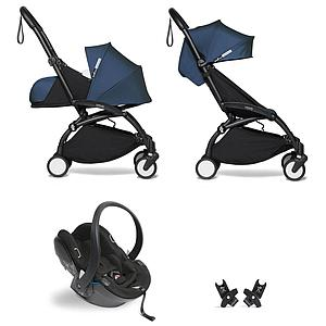 Kinderwagen BABYZEN YOYO² all-in-one 0+/6+ und Autositz schwartz-Air France