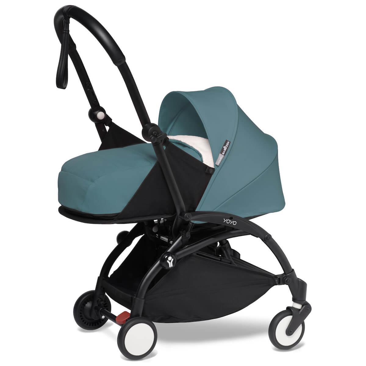 Kinderwagen BABYZEN YOYO² all-in-one 0+/6+ und Autositz schwartz-aqua