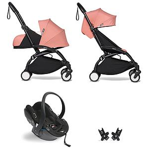 Kinderwagen BABYZEN YOYO² all-in-one 0+/6+ und Autositz schwartz-ginger