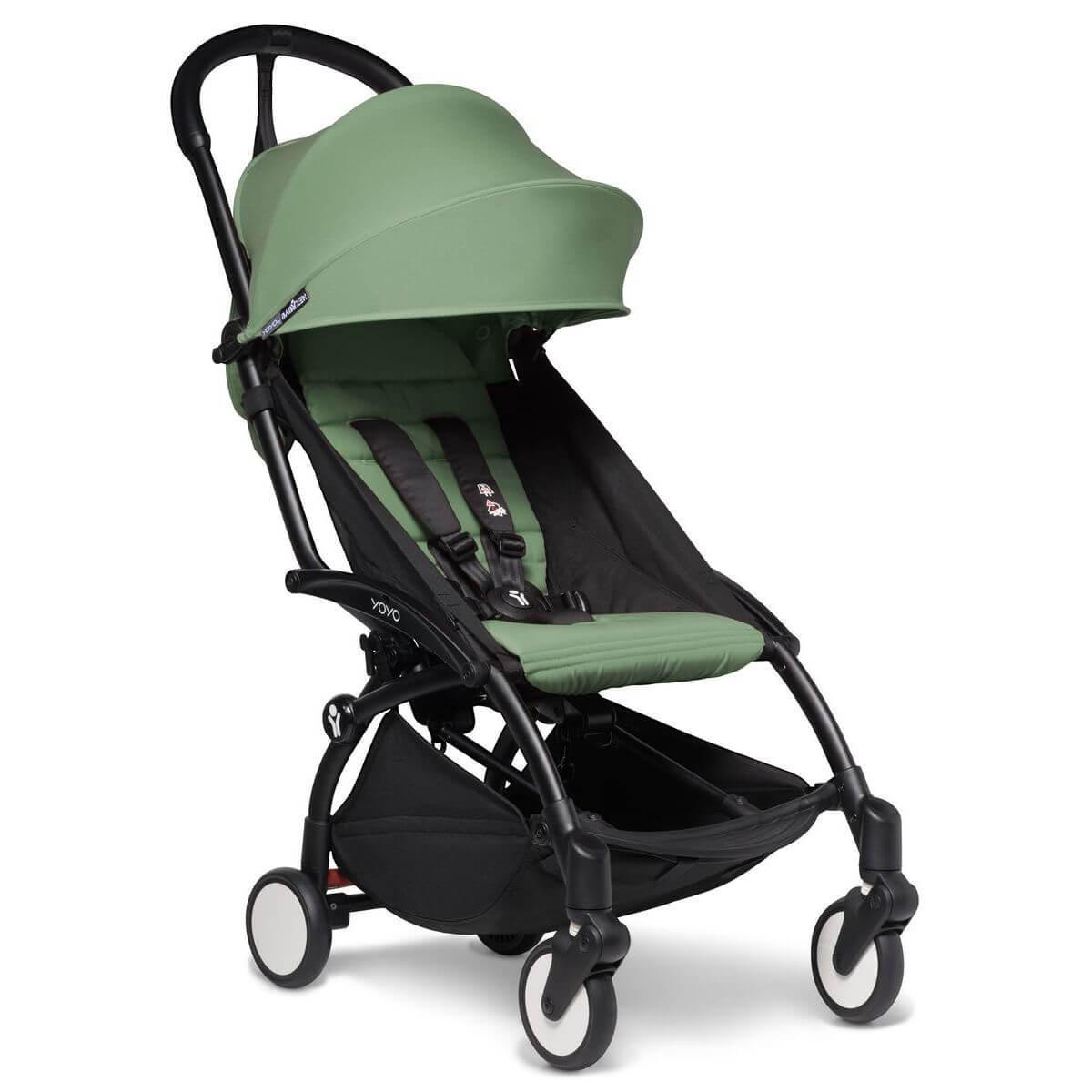 Kinderwagen BABYZEN YOYO² all-in-one 0+/6+ und Autositz schwartz-peppermint