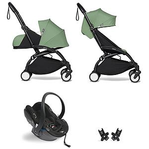 Kinderwagen BABYZEN YOYO² all-in-one 0+/6+ und Autositz schwartz-peppermint