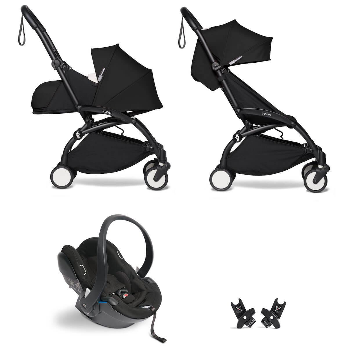 Kinderwagen BABYZEN YOYO² all-in-one 0+/6+ und Autositz schwartz-schwartz