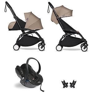 Kinderwagen BABYZEN YOYO² all-in-one 0+/6+ und Autositz schwartz-taupe