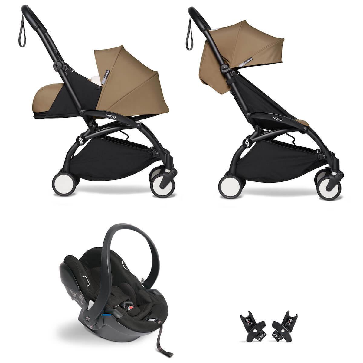 Kinderwagen BABYZEN YOYO² all-in-one 0+/6+ und Autositz schwartz-toffee