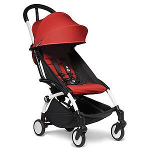 Kinderwagen BABYZEN YOYO² all-in-one 0+/6+ und Autositz weiß-rot