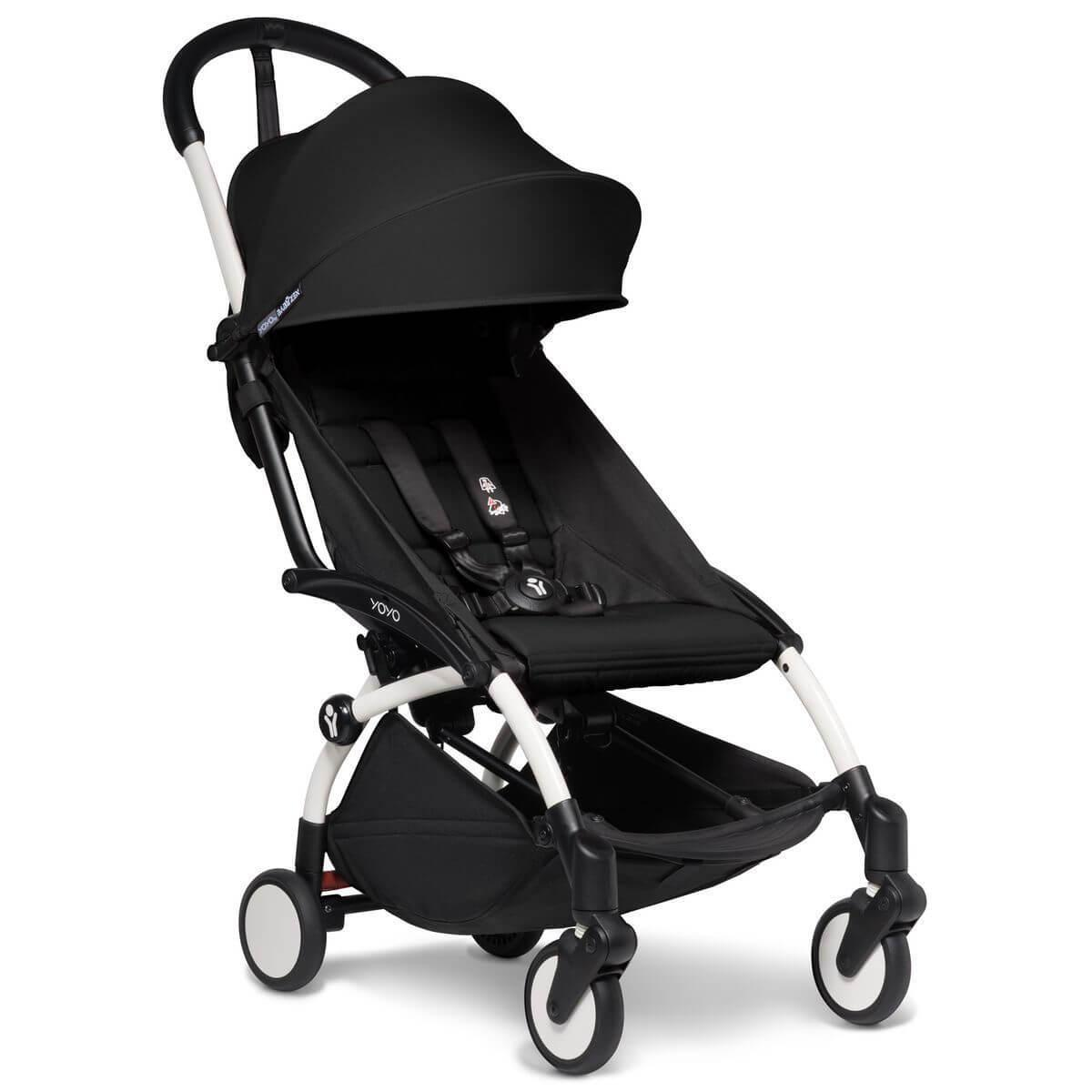 Kinderwagen BABYZEN YOYO² all-in-one 0+/6+ und Autositz weiß-schwartz