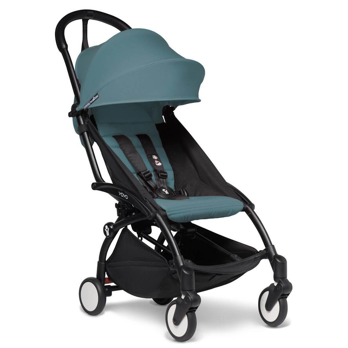 Kinderwagen BABYZEN YOYO²  all-in-one Wanne/Autositz/6+ schwartz-aqua
