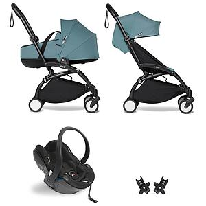 Kinderwagen BABYZEN YOYO²  all-in-one Wanne/Autositz/6+ schwartz-aqua