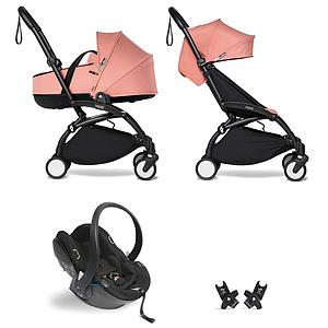 Kinderwagen BABYZEN YOYO²  all-in-one Wanne/Autositz/6+ schwartz-ginger
