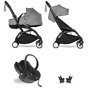 Kinderwagen BABYZEN YOYO²  all-in-one Wanne/Autositz/6+ schwartz-grau