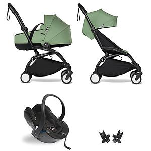 Kinderwagen BABYZEN YOYO²  all-in-one Wanne/Autositz/6+ schwartz-peppermint