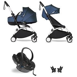 Kinderwagen BABYZEN YOYO²  all-in-one Wanne/Autositz/6+ weiß-Air France