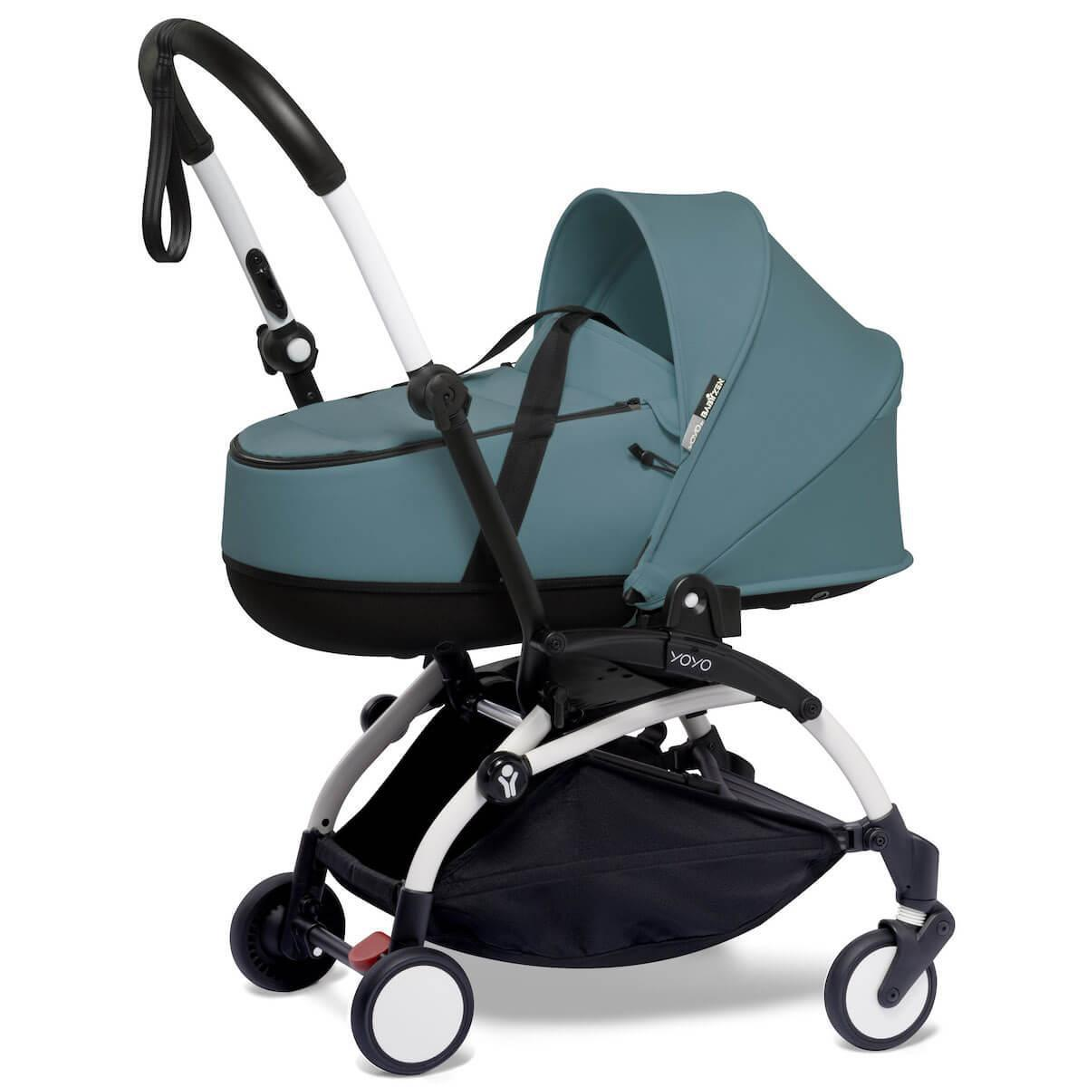 Kinderwagen BABYZEN YOYO²  all-in-one Wanne/Autositz/6+ weiß-aqua