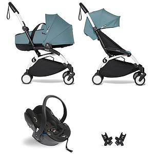 Kinderwagen BABYZEN YOYO²  all-in-one Wanne/Autositz/6+ weiß-aqua