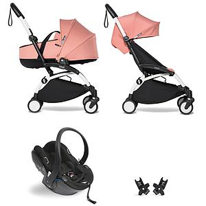 Kinderwagen BABYZEN YOYO²  all-in-one Wanne/Autositz/6+ weiß-ginger