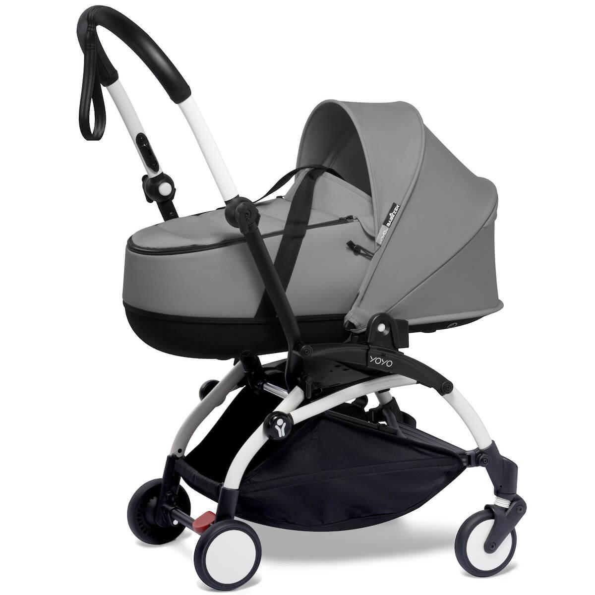 Kinderwagen BABYZEN YOYO²  all-in-one Wanne/Autositz/6+ weiß-grau