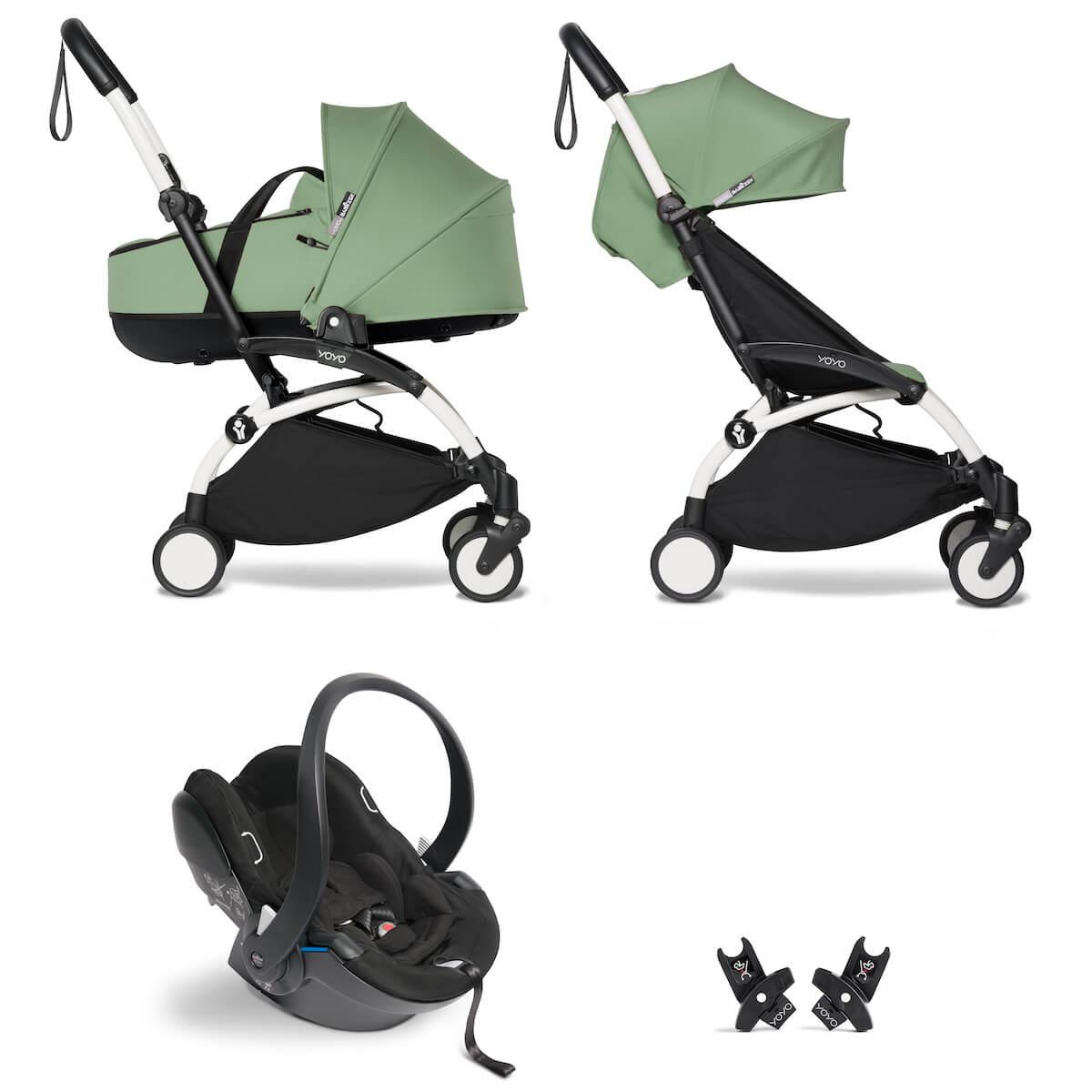 Kinderwagen BABYZEN YOYO²  all-in-one Wanne/Autositz/6+ weiß-peppermint