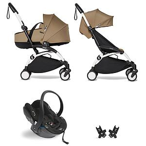 Kinderwagen BABYZEN YOYO²  all-in-one Wanne/Autositz/6+ weiß-toffee