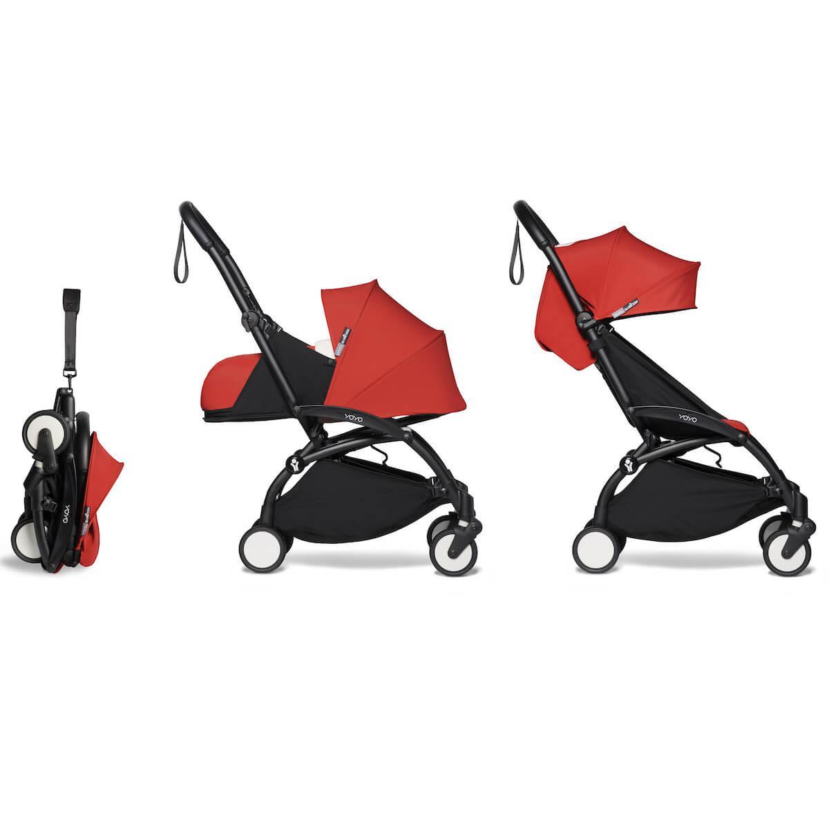 Kinderwagen BABYZEN YOYO² komplett 0+ et 6+ Schwarz-rot