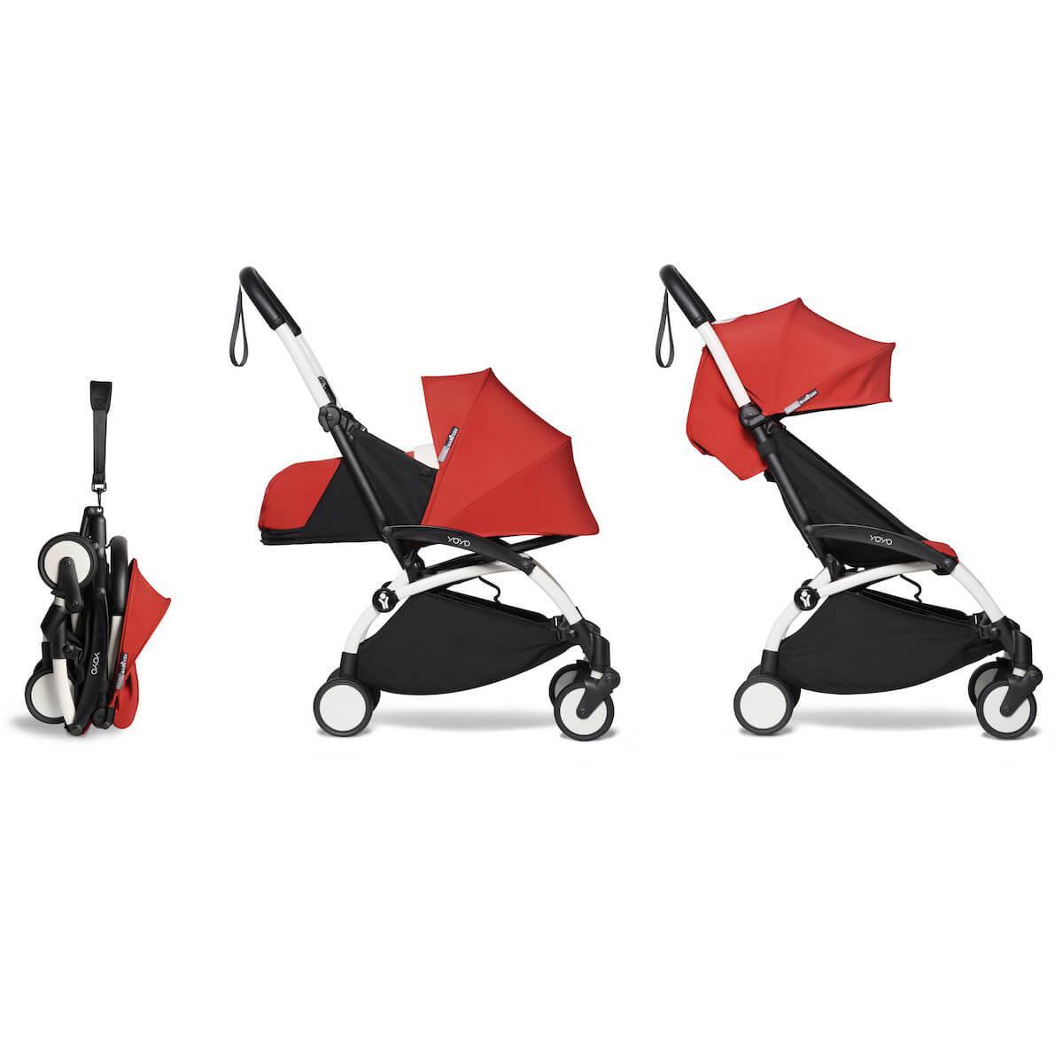 Kinderwagen BABYZEN YOYO² komplett 0+ et 6+ Weiß-rot