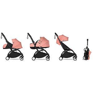 Kinderwagen BABYZEN YOYO² komplett 0+/6+ und Wanne schwarz-ginger