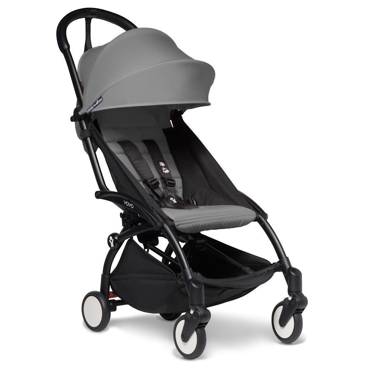 Kinderwagen BABYZEN YOYO² komplett 0+/6+ und Wanne schwarz-grau