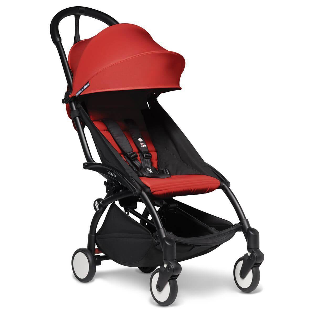 Kinderwagen BABYZEN YOYO² komplett 0+/6+ und Wanne schwarz-rot
