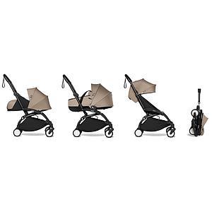 Kinderwagen BABYZEN YOYO² komplett 0+/6+ und Wanne schwarz-taupe