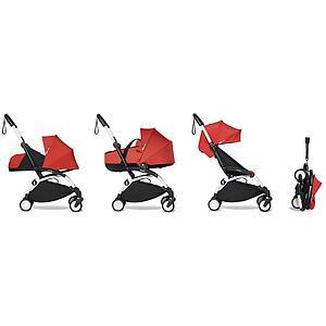 Kinderwagen BABYZEN YOYO² komplett 0+/6+ und Wanne weiß-rot