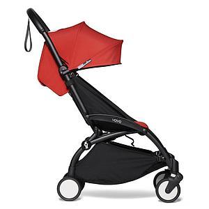 Kinderwagen BABYZEN YOYO² komplett Wanne und 6+ Schwarz-rot