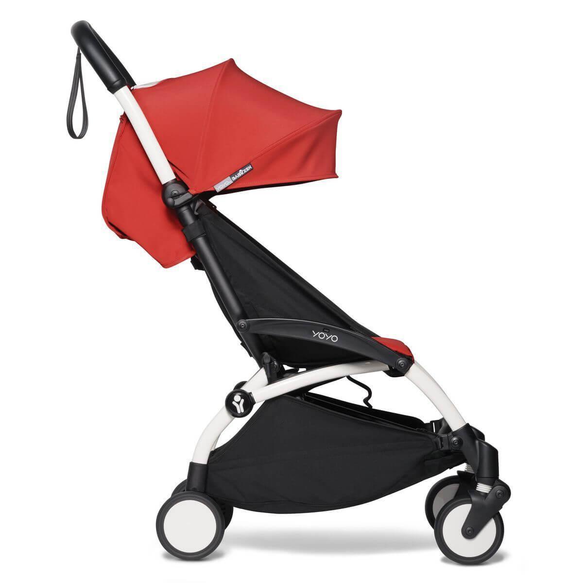 Kinderwagen BABYZEN YOYO² komplett Wanne und 6+ Weiß-rot