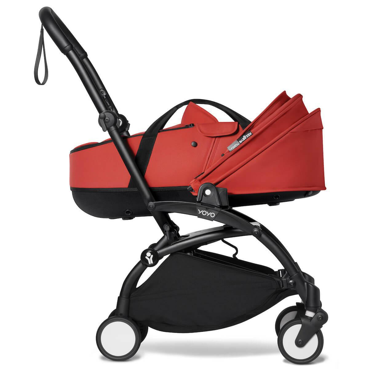Kinderwagen BABYZEN YOYO² Wanne Schwarz-Rot