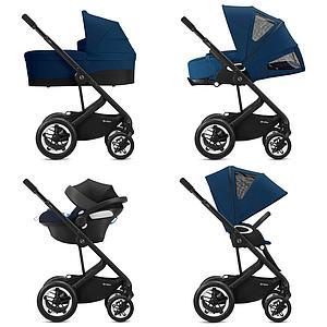 Kinderwagen TALOS S LUX BLK Cybex Soho grey-mid grey
