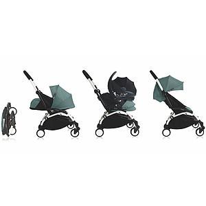 Kinderwagen-Textilset YOYO+ 6+ Babyzen weiß-aqua