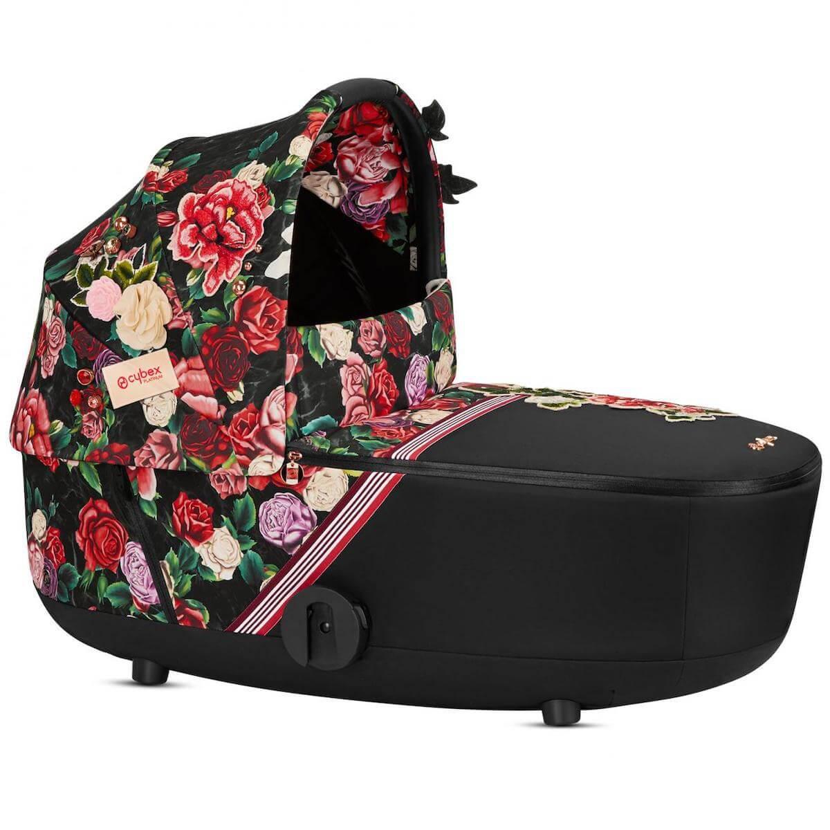 Kinderwagenaufsatz Lux MIOS Cybex Spring Blossom Dark-black