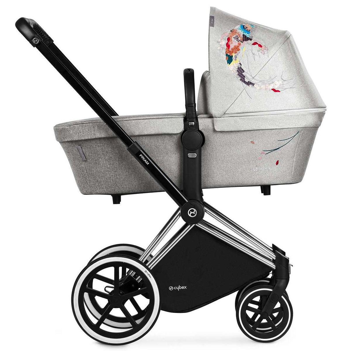 Kinderwagenaufsatz Lux PRIAM Cybex Koi-mid grey