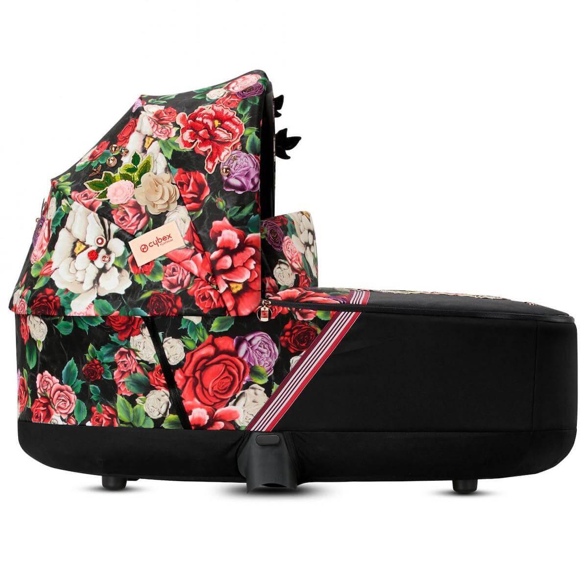 Kinderwagenaufsatz Lux PRIAM Cybex Spring Blossom Dark-black