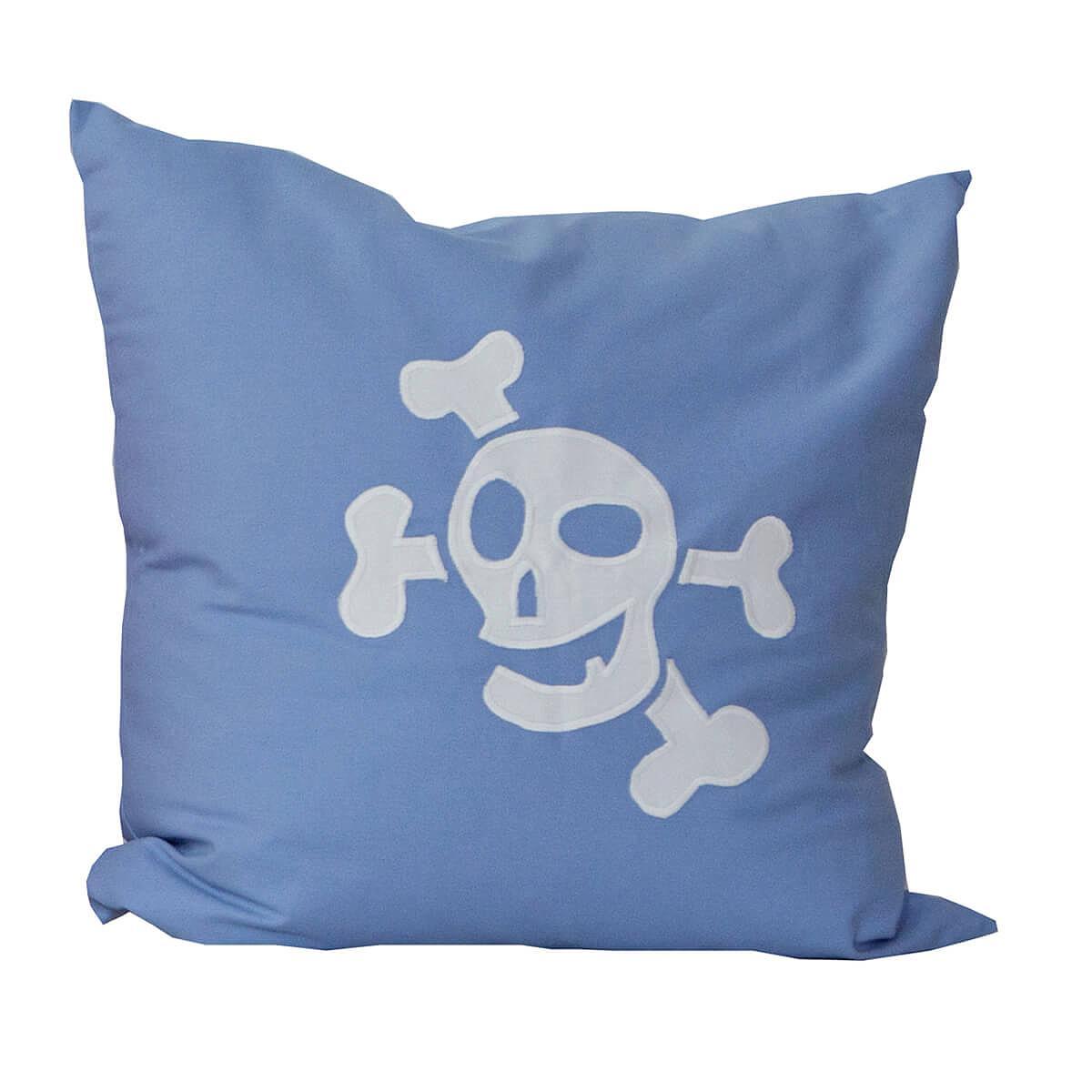 Kissen Pirat 60x60cm DELUXE de Breuyn hellblau