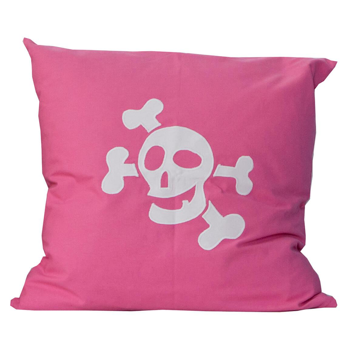 Kissen Pirat 60x60cm DELUXE de Breuyn rosa