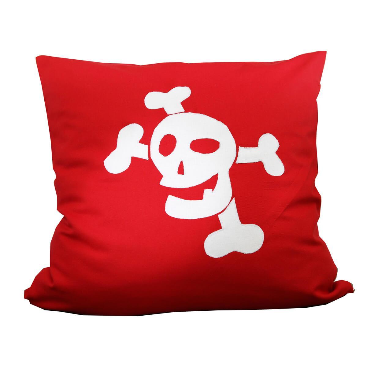 Kissen Pirat DELUXE De Breuyn 60x60cm rot