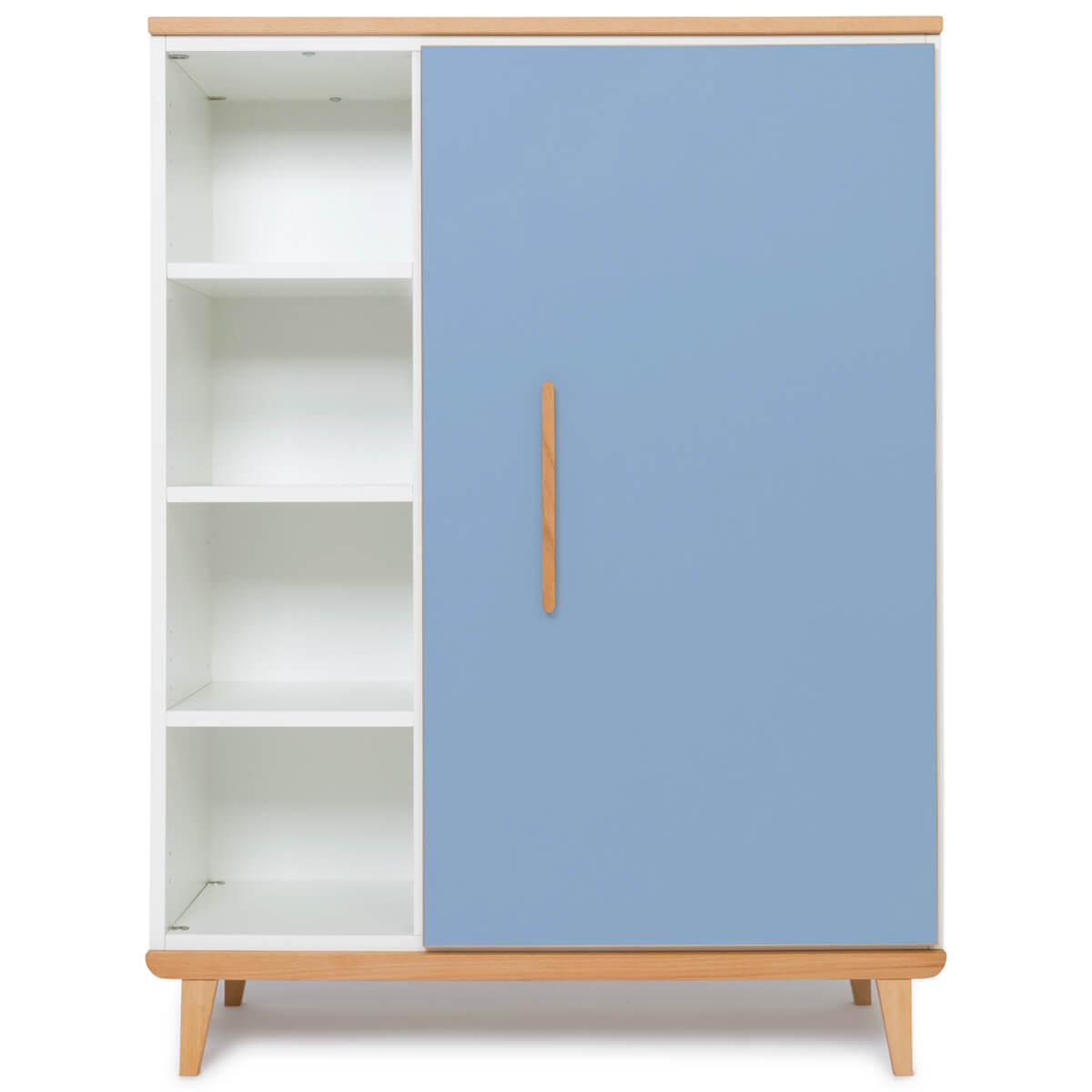 Kleiderschank 120cm 1-türig NADO capri blue