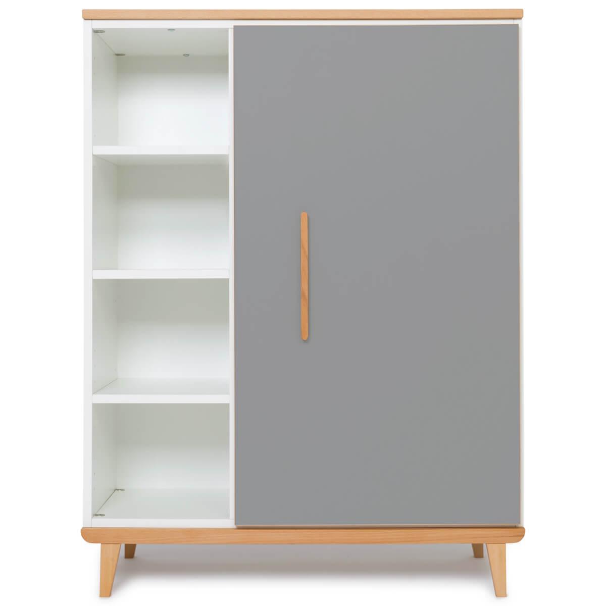 Kleiderschank 120cm 1-türig NADO slate grey