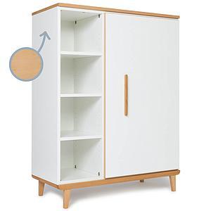 Kleiderschank 120cm 1-türig NADO white