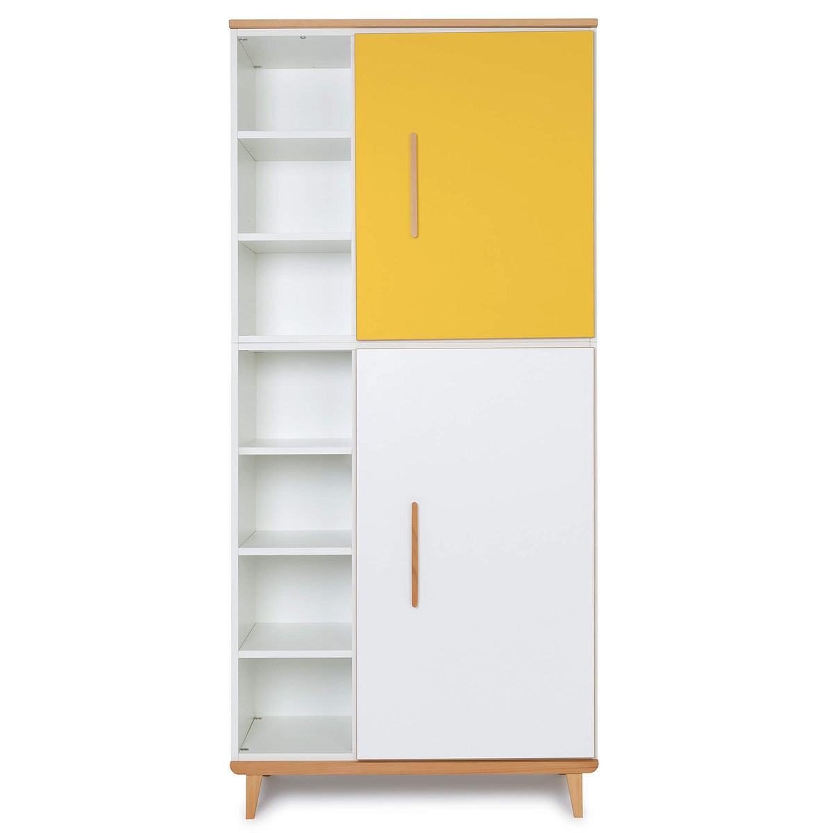 Kleiderschank 198cm 2-türig NADO sunshine yellow-white