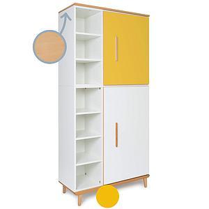 Kleiderschank 198cm 2-türig NADO sunshine yellow-white