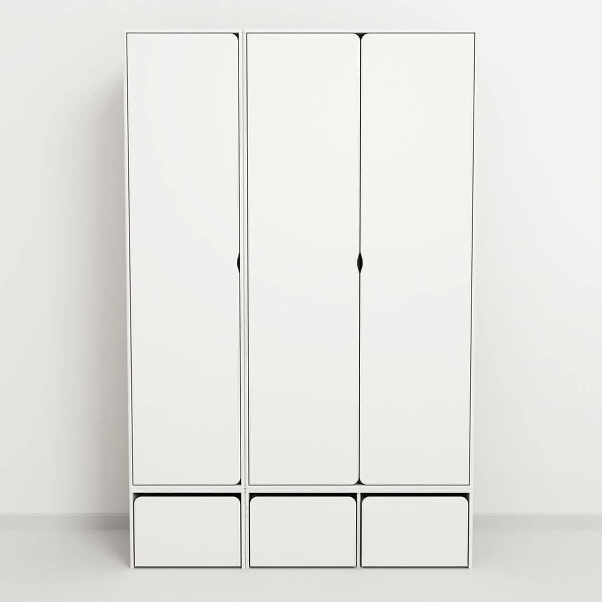 Kleiderschrank-1 Tür CABBY Flexa weiß