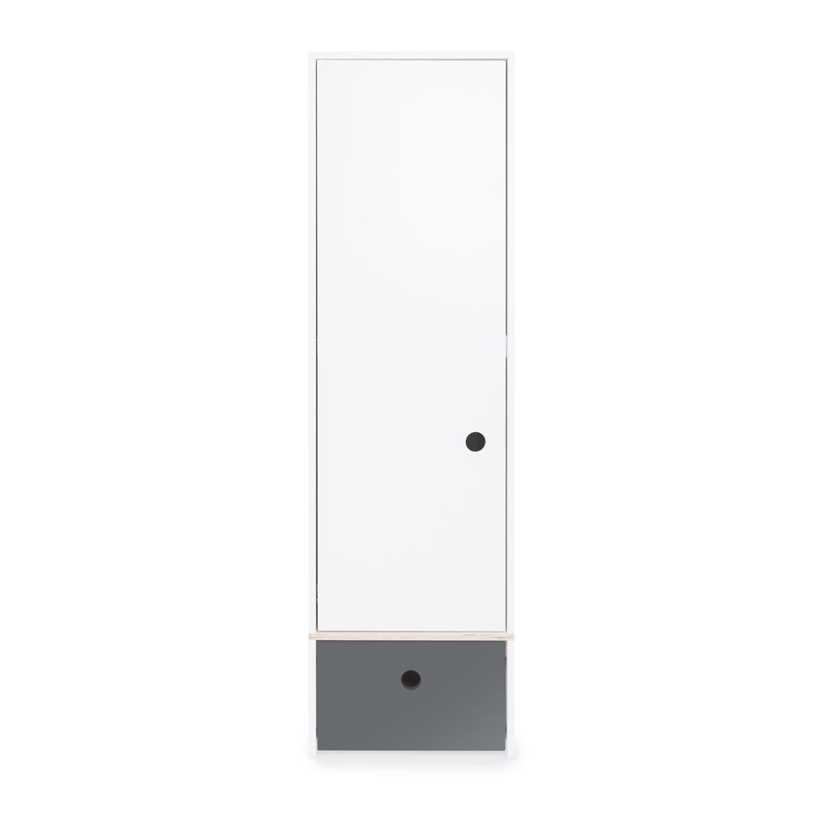 Kleiderschrank 1-türig COLORFLEX Schublade space grey