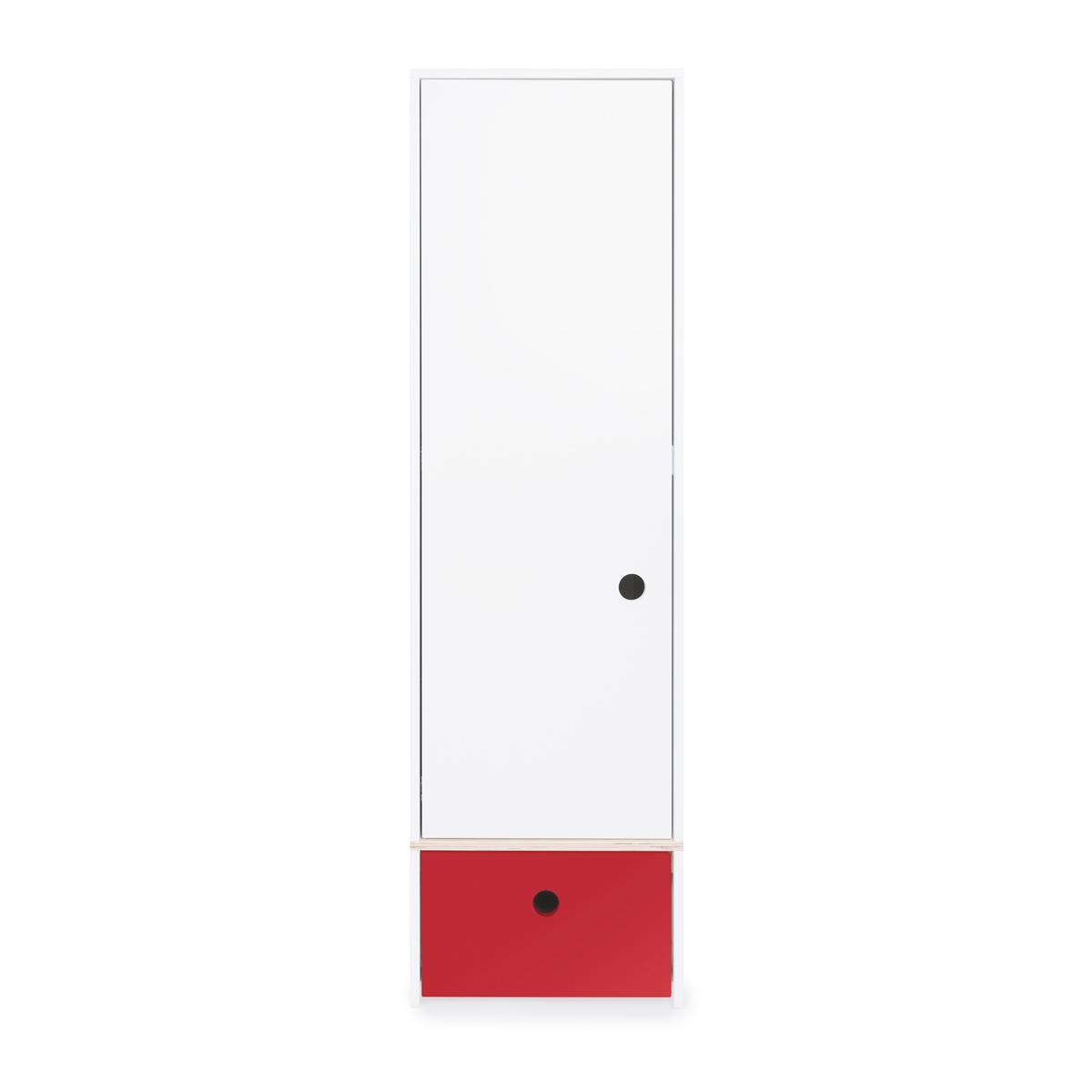 Kleiderschrank 1-türig COLORFLEX Schublade true red
